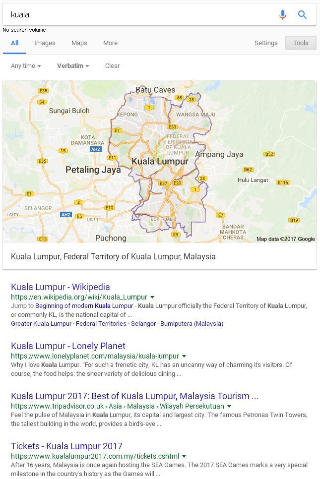 pencarian google normal tambah menggunakan operator tolak