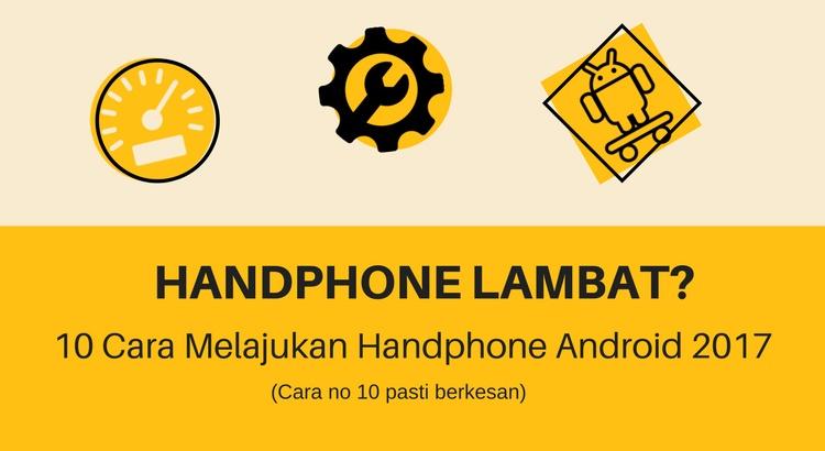 melajukan handphone android