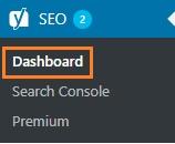 dashboard pada yoast seo menu