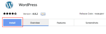 butang install wordpress
