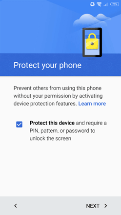 android restore security