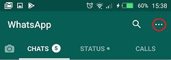 butang menu whatsapp