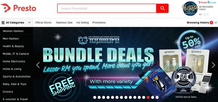 laman web prestomall online shopping malaysia