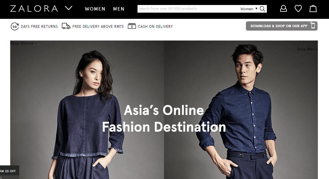 zalora malaysia laman web online shopping malaysia
