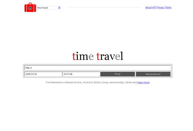 Time Travel web