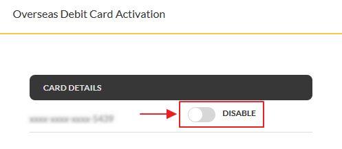 enable debit card