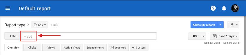 adsense report filter