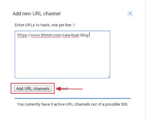 klik add url channel
