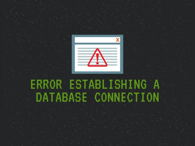 masalah error establishing a database connection