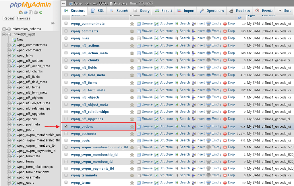tick table database rosak