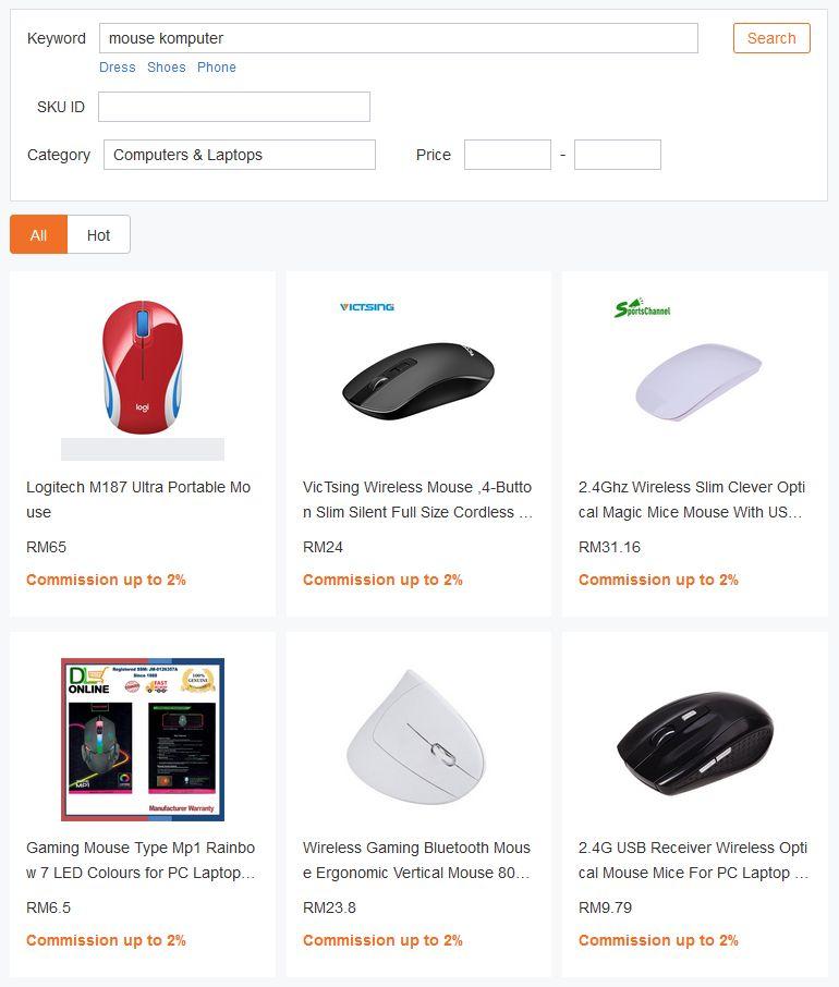 keputusan carian dalam produk link