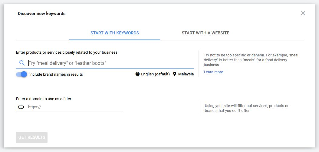 discover a new keyword