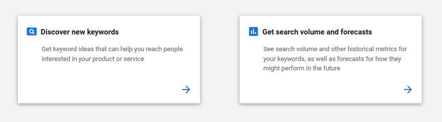 tools dalam google keyword planner