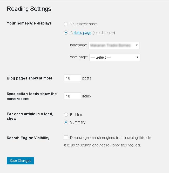 paparan settings reading
