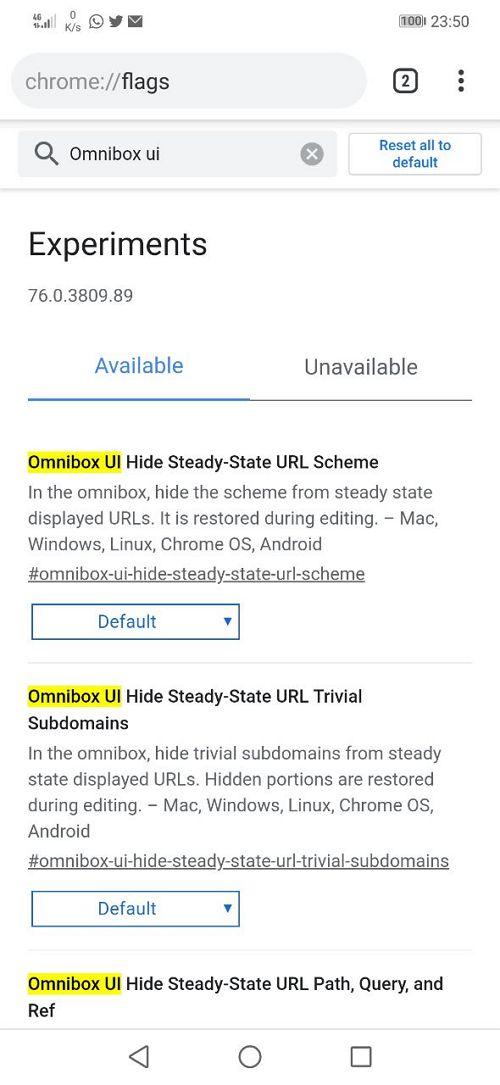 search omnibox ui