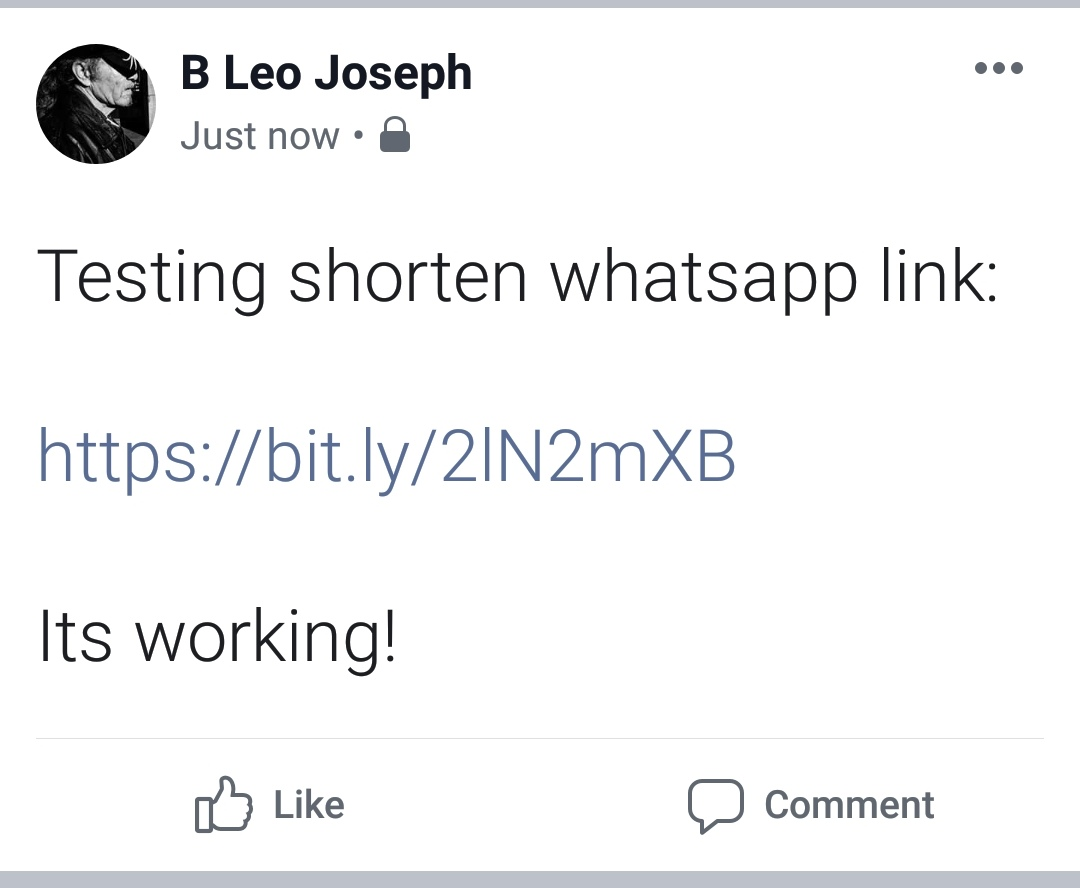 contoh shorten whatsapp link di fb