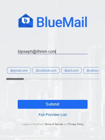 bluemail desktop masukkan email