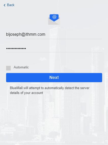 bluemail desktop password