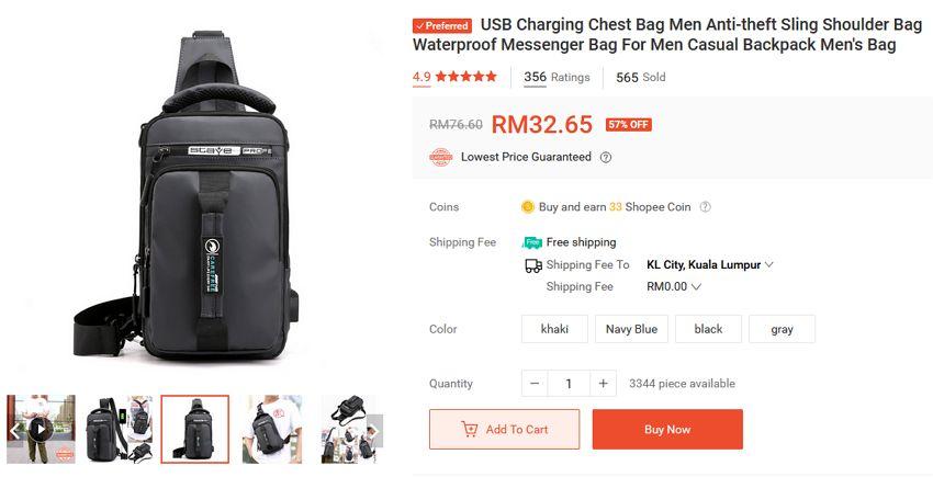 anti-theft bag shopee