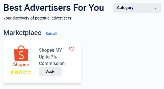 apply program affiliate shopee