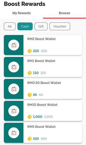 boost reward duit cash