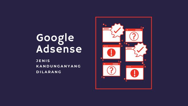Syarat Kandungan Laman untuk Google Adsense