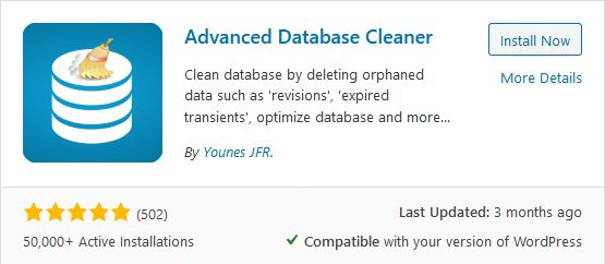 advance database cleaner