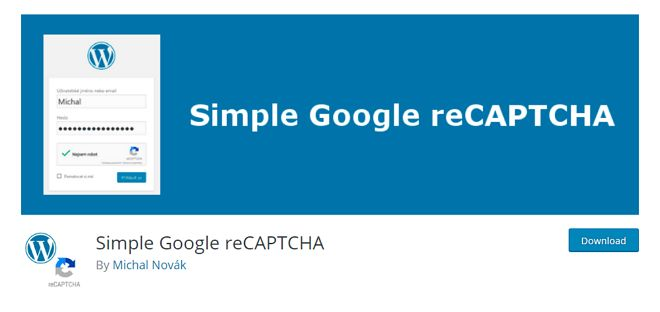 simple google recaptcha plugin oleh micheal plugin penting untuk blog
