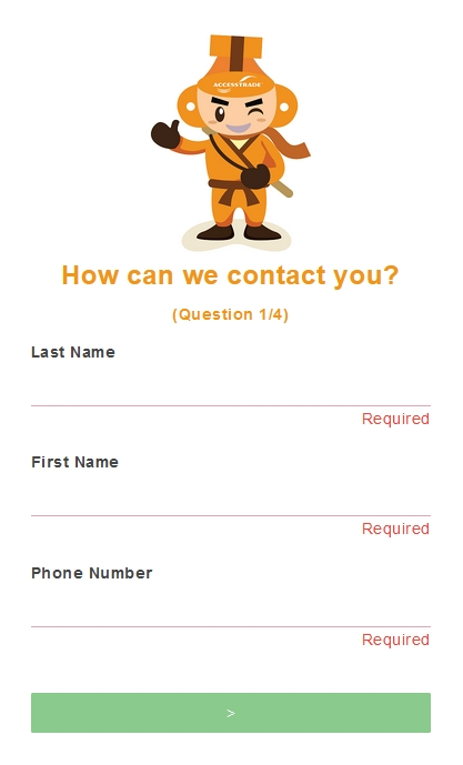 accesstrade form - how we can contact you