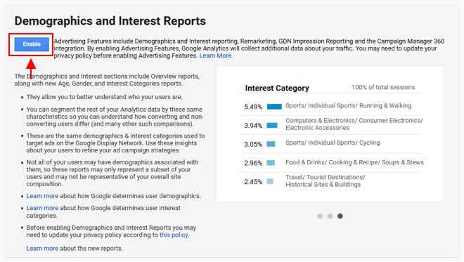 enable audience report
