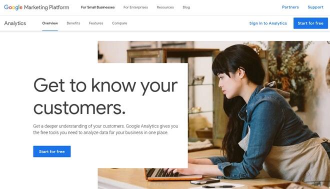 log masuk ke google analytics