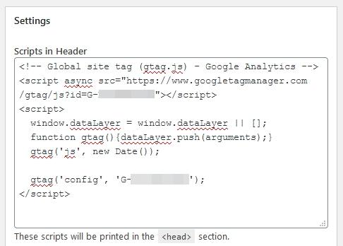 masukkan kog gtag dalam header guna plugin