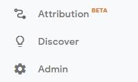 menu untuk setting tetapan info google analytics