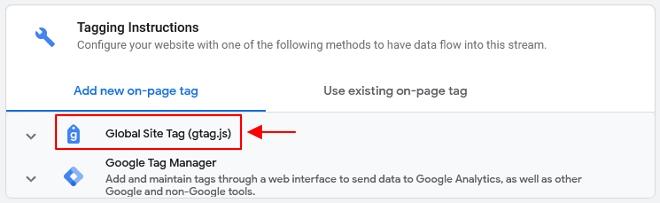 cara untuk setup global site tag google analytics
