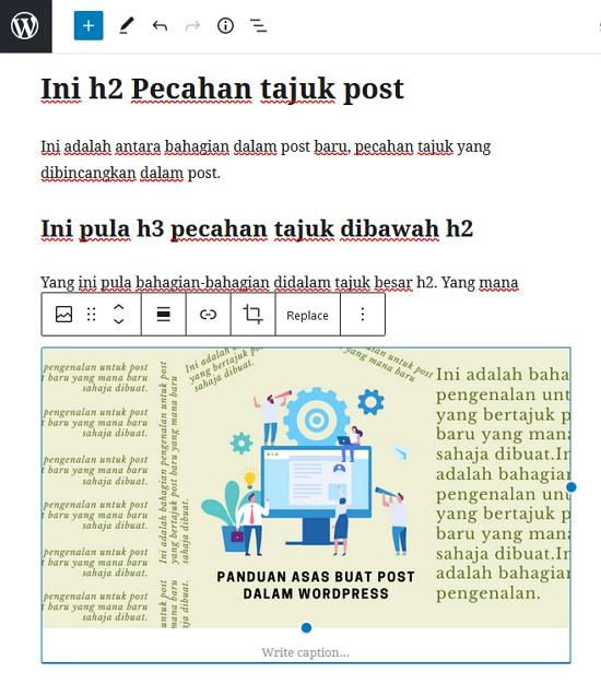 letak gambar dalam post wordpress