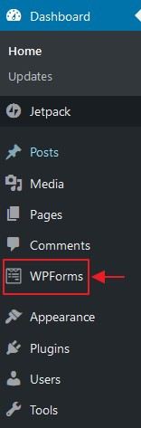 menu plugin wpforms