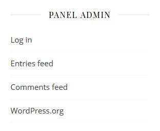 panel login untuk admin di wordpress