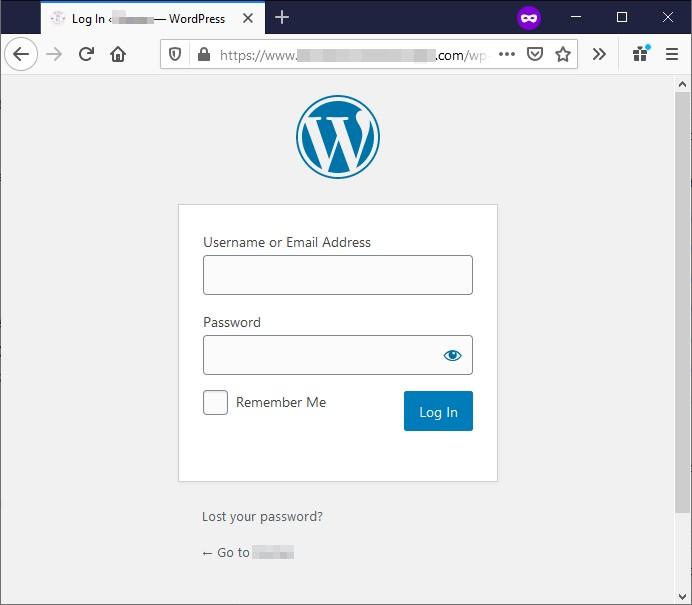 paparan login wordpress