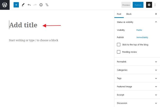 ruangan title wordpress post editor