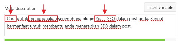 keyword dalam meta description