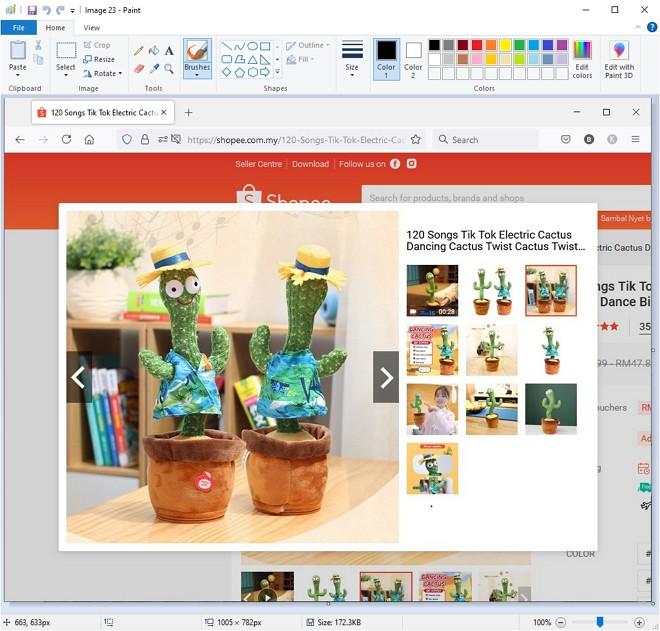 Aplikasi Paint untuk edit printscreen dalam windows