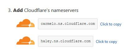 add cloudflare nameserver