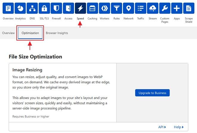 tab optimization dalam speed cloudflare
