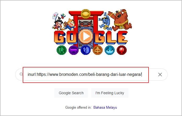 cara guna inurl operator google