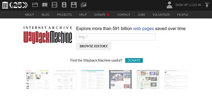 laman web wayback machine