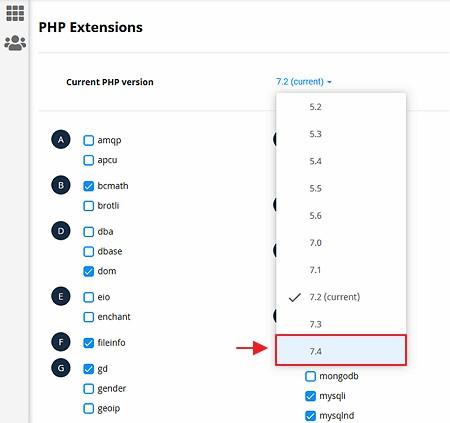 cara update php wordpress ke versi terbaru 7.4